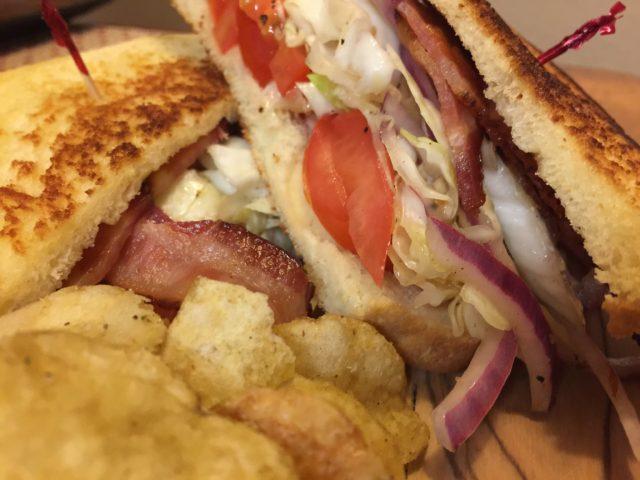 Bacon Cabbage Tomato Sandwich
